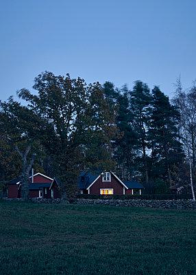Schwedisches Haus am Abend - p1124m1195162 von Willing-Holtz