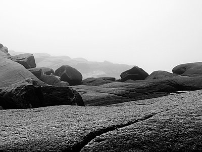 Rocks at Peggys Cove in Nova Scotia - p1072m828962 by Clive Branson