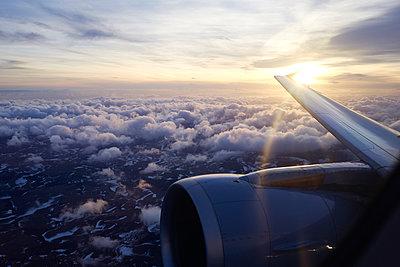Air trip at sunset  - p1203m1189818 by Bernd Schumacher