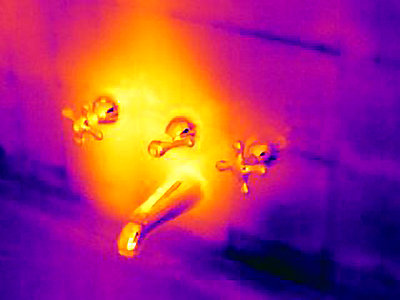 Thermal image of bath faucet - p429m756437 by Joseph Giacomin