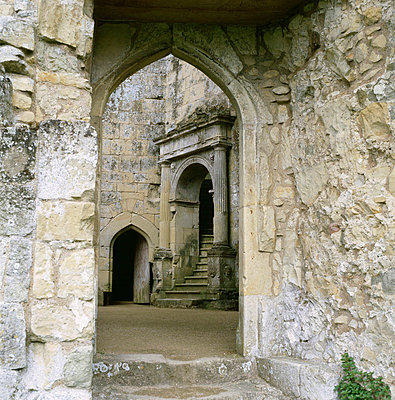 Old Wardour Castle. View towards entrance to the hall in the castle keep. - p8551775 by Paul Highnam