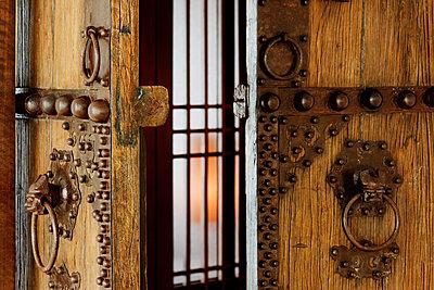 Wooden Door - p1100m2090904 by Mint Images