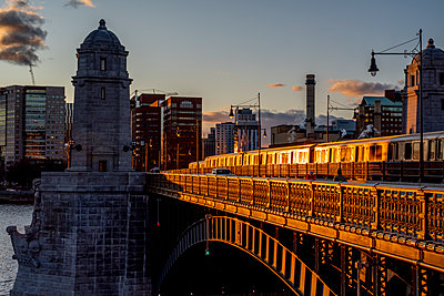 Longfellow Bridge overlooking Kendall Square - p401m2232260 by Frank Baquet