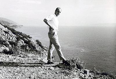 Man on the coast - p1541m2133323 by Ruth Botzenhardt