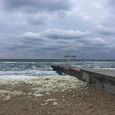 Ukraine, Odessa, Stormy sea - p1401m2184893 by Jens Goldbeck