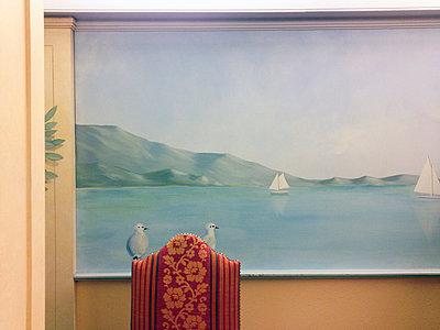 Wandmalerei, Möwen an einem See - p1542m2142290 von Roger Grasas