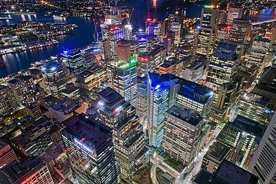"The Central Business District (CBD) as seen from the ""Sydney Tower"" in Sydney - p589m1171116 by Thierry Beauvir"