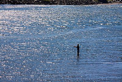 Fly fishing - p836m916671 by Benjamin Rondel