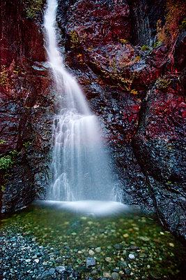 Waterfall in creek along Gold River Highway - p884m864052 by Matthias Breiter