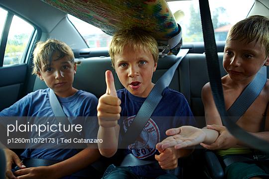 Boys Car Surfboard - p1260m1072173 by Ted Catanzaro