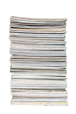 Close-up of magazines - p1094m1015436 by Patrick Strattner