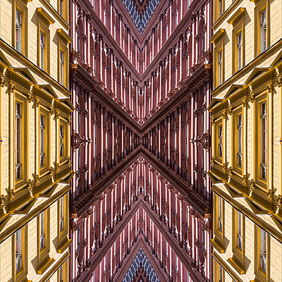 Abstract Kaleidoscope Art Nouveau Facade - p401m2216003 by Frank Baquet