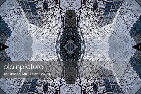 Abstract architectural kaleidoscope Boston - p401m2222138 by Frank Baquet