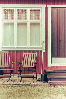 Two garden chairs  - p1255m2015623 by Kati Kalkamo
