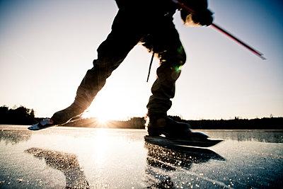 Sweden, Ice scater - p1687m2284270 by Katja Kircher