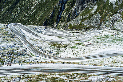 Serpentines at the Gotthard Pass - p280m943695 by victor s. brigola