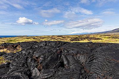 USA, Hawaii, Big Island, Volcanoes National Park, Ka Lae Apuki, lava fields - p300m2103507 by Fotofeeling