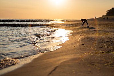 Baltic Sea beach at sunrise - p300m2220520 by Anke Scheibe