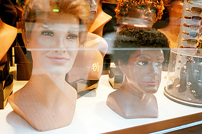 Display heads with wigs - p388m701458 by Jim Green