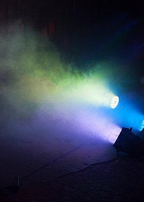 Spotlights in the fog - p1008m1169087 by Valerie Schmidt