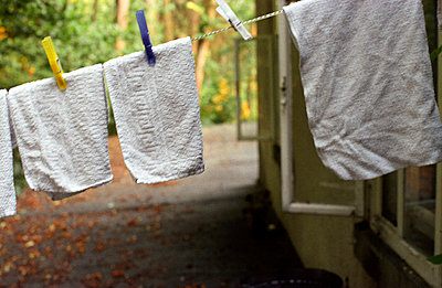 Towels on a clothesline - p1120668 by AMI