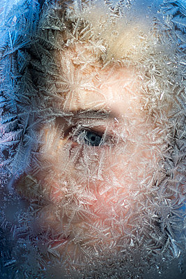 Boy behind ice - p1169m1463523 by Tytia Habing