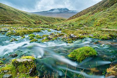 UK, Scotland, Highland, Asynt, Allt nan Uamh valley, stream near Bone Caves - p300m2062838 by Stefan Schurr