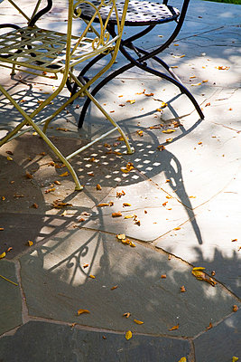 Wrought Iron Outdoor Dining Table and Chairs - p5550707f by LOOK Photography