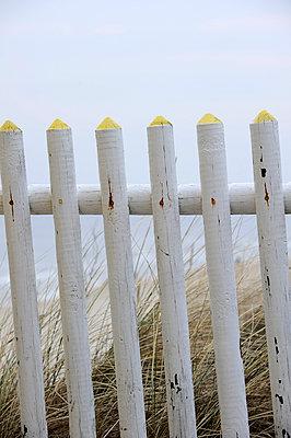 Zaun am Strand - p949m902367 von Frauke Schumann
