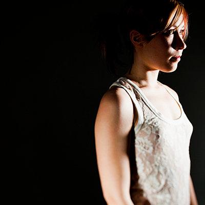Woman in nightdress - p4130711 by Tuomas Marttila