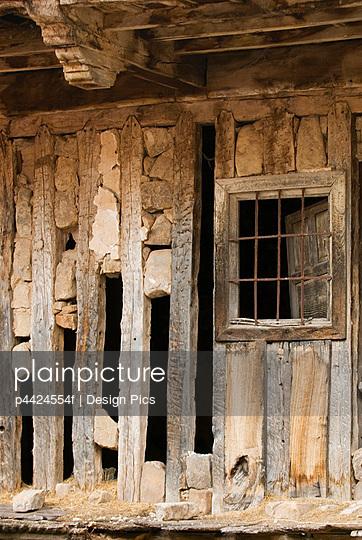 Old broken building - p4424554f by Design Pics