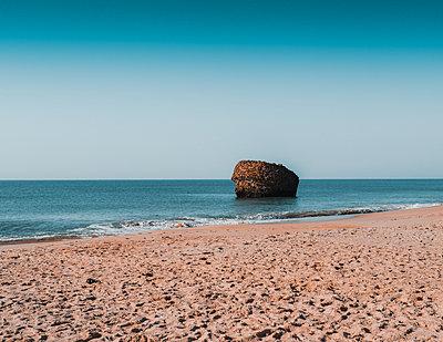 Spain, Rock in the sea - p1681m2263285 by Juan Alfonso Solis
