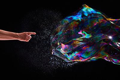 Soap bubble formation - p851m1214841 by Lohfink
