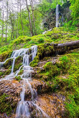 Germany, Bad Urach, Swabian Alb, Urach waterfall - p300m1141067 by Walter G. Allgöwer