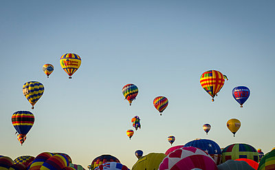 The Albuquerque International Balloon Fiesta draws spectators from around the world.  - p343m958145 by Jeremy Wade Shockley