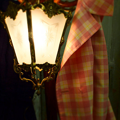 Lamp and coat - p9270006 by Florence Delahaye