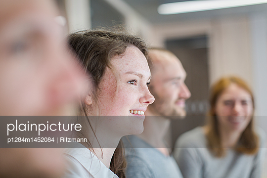 Group of students in workshop - p1284m1452084 by Ritzmann