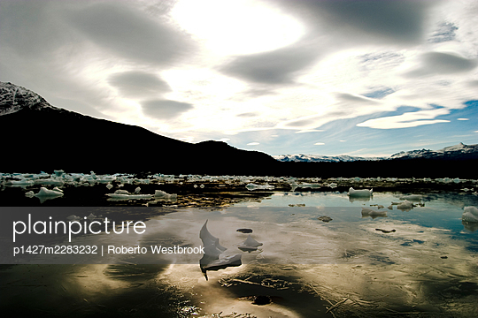 Icebergs, Upsala Glacier tour, Glacier National Park, Lago Argentina, Argentina - p1427m2283232 by Roberto Westbrook