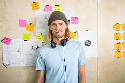 Mann mit Mütze - p1156m1572825 von miep