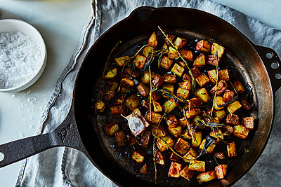 roasted potatoes - p1379m1525897 by James Ransom
