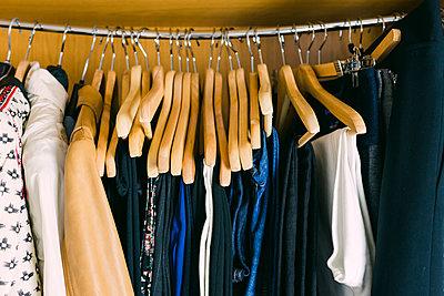 Clothes in wardrobe - p1427m2109918 by Alexandra C. Ribeiro