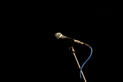 Microphone on a stage - p6380030 by James French