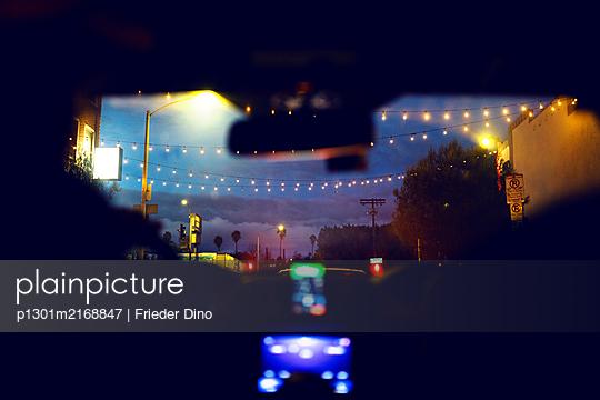 Car ride at night - p1301m2168847 by Delia Baum