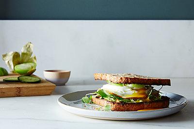 Avocado Toast Sandwich - p1379m1488056 by James Ransom