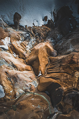 Aerial view of a geothermal area in the Highlands of Iceland - p1634m2210394 by Dani Guindo