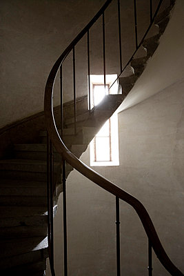 Stairway in an old building - p2481023 by BY