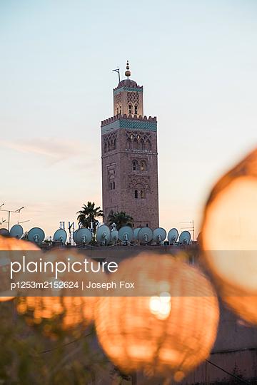 Marrakesh, Minaret - p1253m2152624 by Joseph Fox