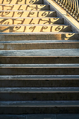 Shadow of the sun on a staircase - p1312m2082222 by Axel Killian
