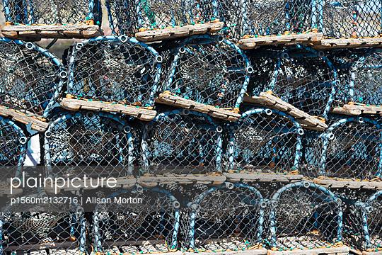 Lobster pots - p1560m2132716 by Alison Morton