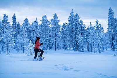 Woman cross-country skiing - p312m2051395 by Hans Berggren